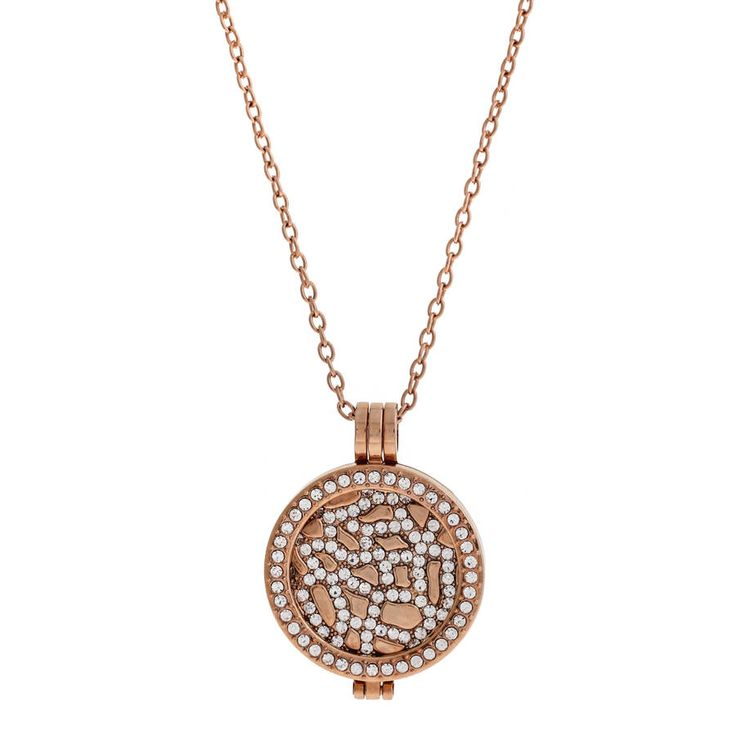 Rose Gold Plated Coin Pendant Necklace