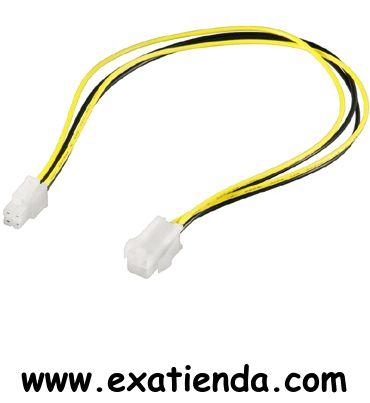 Ya disponible Cable alargo 4 a 4 pins 0.34m   (por sólo 8.89 € IVA incluído):   - Cable extensor de alimentación, que va desde la fuente de alimentación ATX a la placa madre. Cable basado en conector de 4-pin (2 x 2 pin), que conecta el cable especial de 12V que requieren las placas madre basadas en Pentium-IV a la fuente de alimentación.  - Conectores de 4 pines M/H. - Longitud 34 cms.  Garantía de fabricante  http://www.exabyteinformatica.com/tienda/3452-cable-alarg
