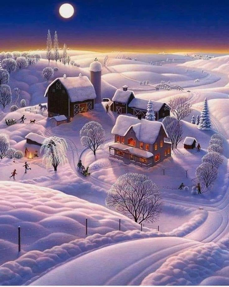 Красивые картинки на разную тематику про зиму