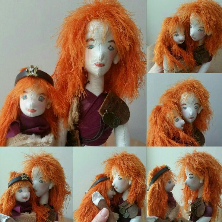 Steam Punk Sisters. I really enjoyed making this set of dolls. There's a Mom too. But they've gone for a photoshoot...