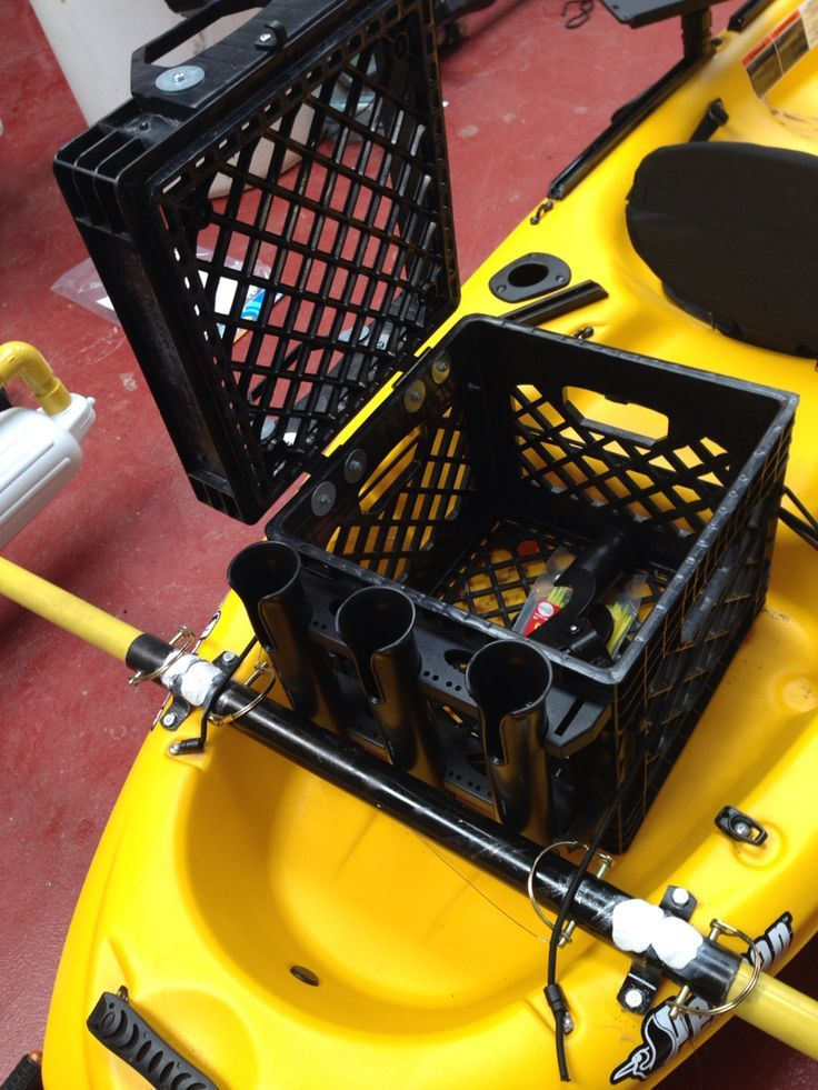 www.pinterest.com/1895gunner/ | Carry Crate With Rod Holders For Kayak...