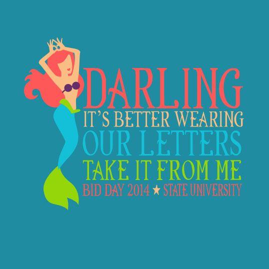 awesome little mermaid theme bid day shirt!!