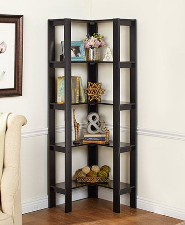 L Shaped Corner Storage Shelving Units, Living Room Corner Shelf