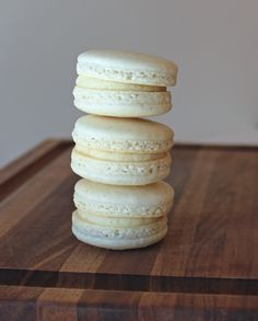 Vanilla Bean Macaron Recipe Jour de Macaron Day. Again, need to find U.S. equivalents. Or get a digital scale..;)