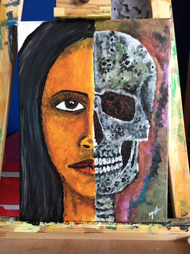 #arte #art #artecontemporanea #acrylic #acrilico #pintura #painting #color #skull #calavera #face #cara #artista #tattooartist #artist #chile #wasodemattos