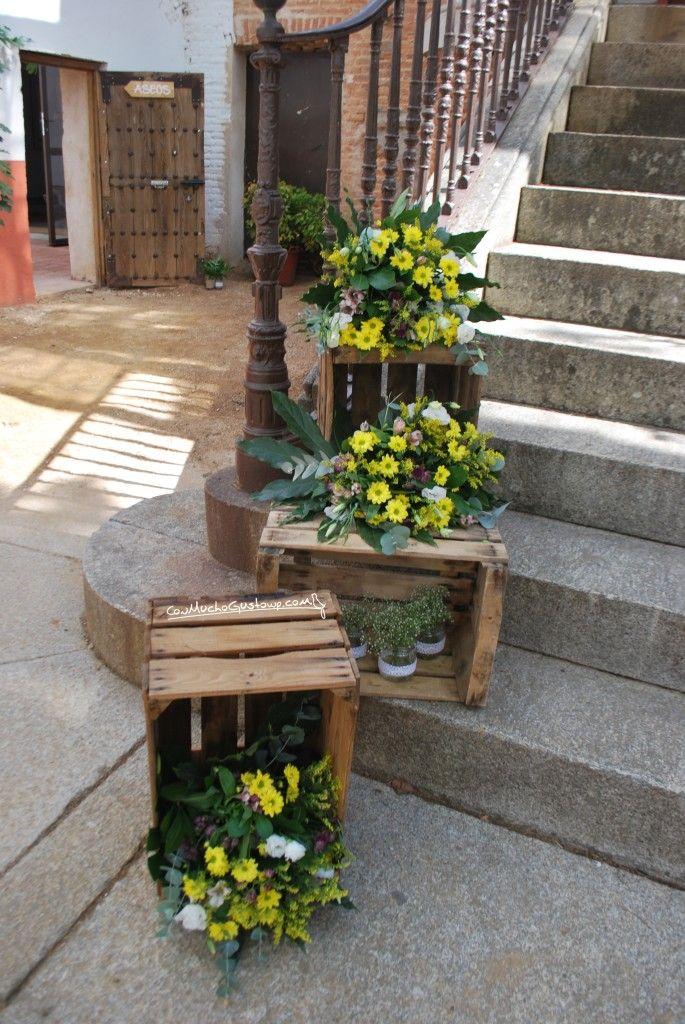 Decoración escaleras boda
