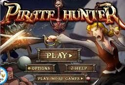 """Pirate Hunter  Join with the notorious Pirate Hunter as he dons his trusty sword, and sets sail on an adventure to the edge of the world, in a bid to rid the oceans of blood-thirsty pirates. Grapple your way aboard the pirate ships and defeat every last one who has ever said """"Arrrggghhh, Matey!"""". http://www.freeonlinegamestore.com/pirate-hunter/"""