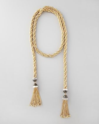 "Long Tassel-End Necklace, 54""L by Rachel Zoe at Neiman Marcus."