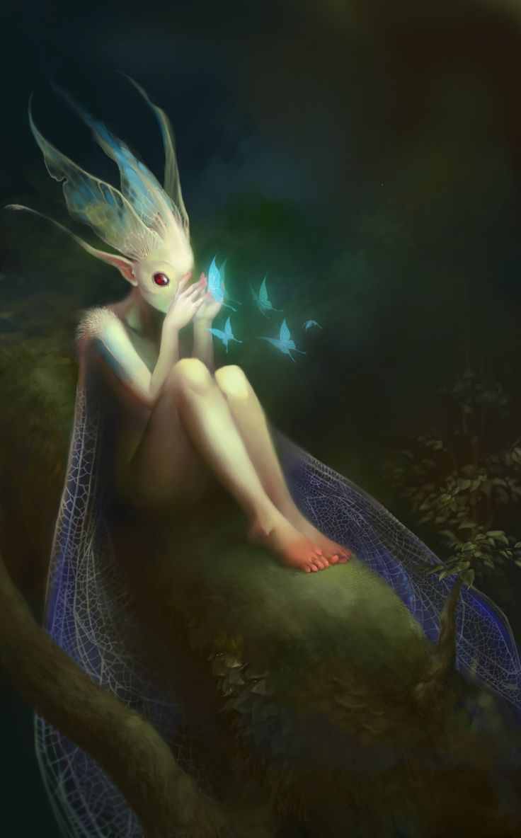Butterfly Dreams by WeijiC.deviantart.com on @deviantART A somewhat different fairy!