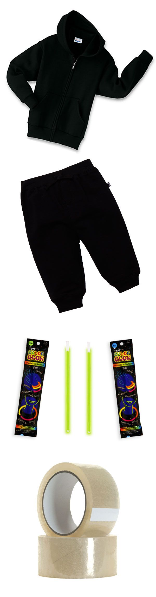 How to Make Your Own Cheap, Easy Glow-in-the-Dark Stick Figure Costume