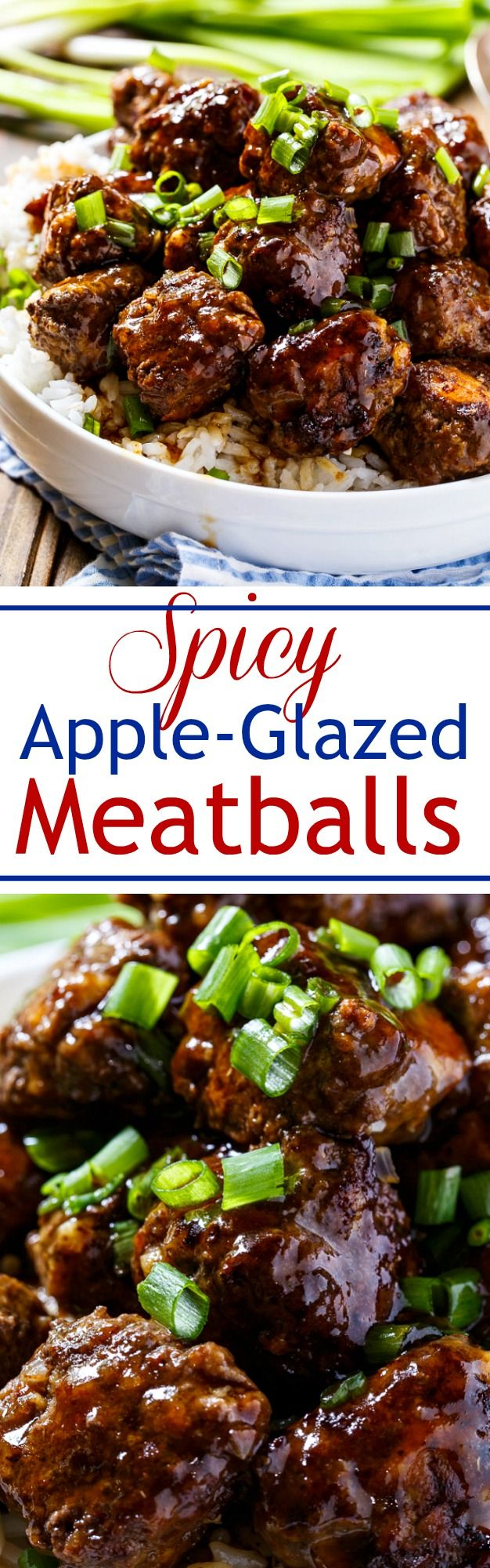 Spicy Apple-Glazed Meatballs are the ultimate sweet-and-spicy appetizer.