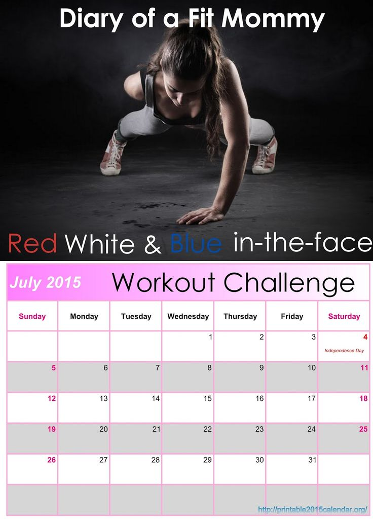 Diary of a Fit Mommy: Red, White, & Blue In-The-Face July Workout Challenge
