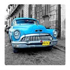 Kék old car falikép
