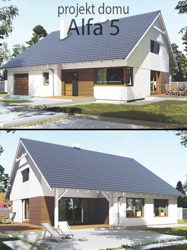 Projekt parterowego domu, z jednostanowiskowym garażem. Nowoczesna oraz jednocześnie nieskomplikowana bryła budynku zapewnia ponadczasowy wygląd oraz optymalizację kosztów budowy. Parter o powierzchni przeszło 115 m2 został zaprojektowany z myślą o komfortowym użytkowaniu przez 4 osobową rodzinę, a pełnowymiarowa klatka schodowa zapewnia dostęp do ok. 90 m2 dodatkowej powierzchni.