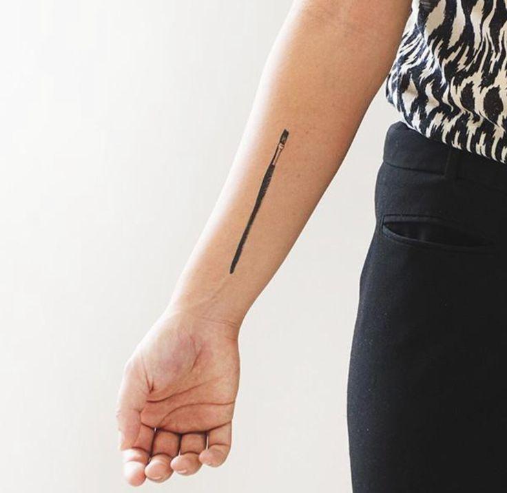 Resultado de imagem para makeup brush tattoo