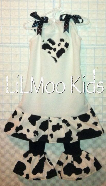BOUTIQUE Custom LiLMoo Cow Girl Sassy cowgirl by TheCutestCowgirl