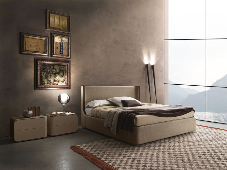 Presotto Callas leather bed UK stockist | Fashion bed | Robinsons Beds
