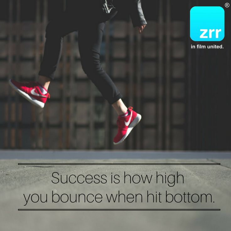Success is how high you bounce when hit bottom. #todaysquote #inspiration #motivation #zipstrr #trendsettrr #madeinberlin #fromhollywood #infilmunited
