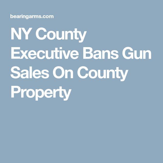 NY County Executive Bans Gun Sales On County Property