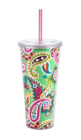 Vera Bradley cup. So silly and frivolous, but it may actually motivate me to drink water.