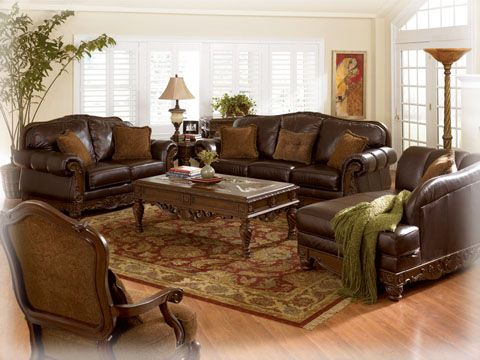 Old World - Dark Brown Living Room Sofa Set...Almost bought this set. Still want it....beautiful.