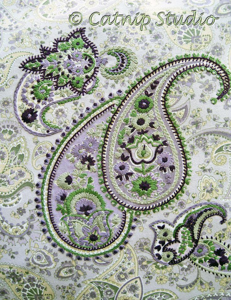 Paisley Purple Fabric- Love the idea & design.  Catnip Studios blog - http://catnipstudio.blogspot.com/