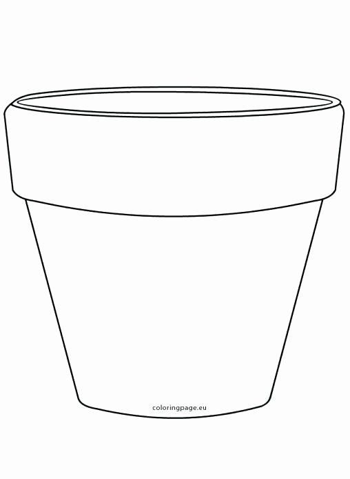 Flower Pot Coloring Page Lovely Flower Pot Template Sketch Coloring Page Coloring Flowe Printable Flower Coloring Pages Flower Printable Flower Coloring Pages