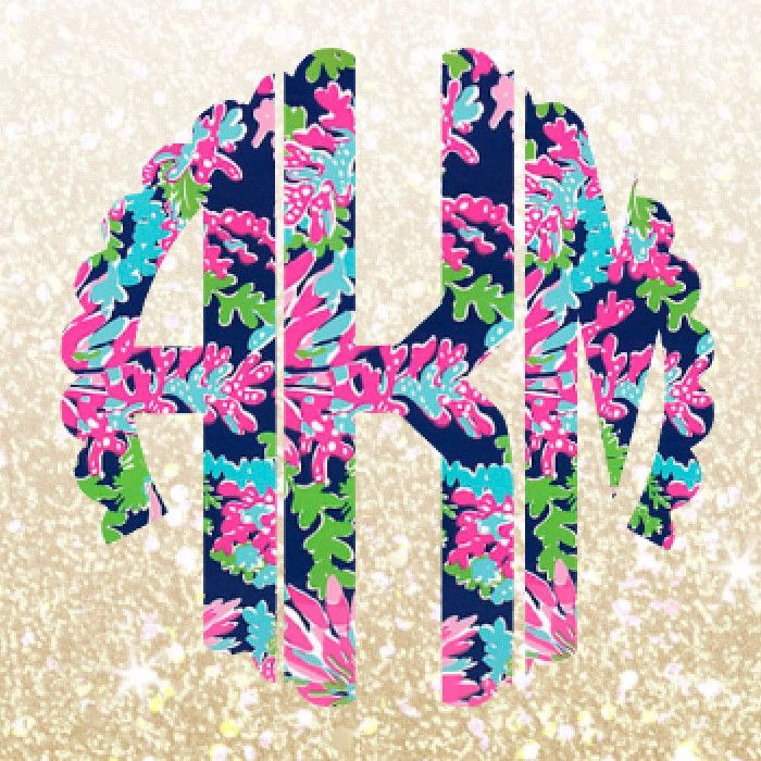 Lilly Pulitzer Scallop Monogram Decal For Yeti Tumblers, Cars, and Tech Devices