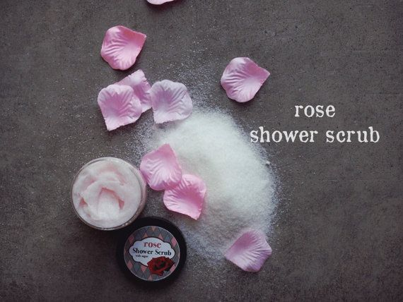 Rose Shower Scrub by ASTPRODUCTS on Etsy