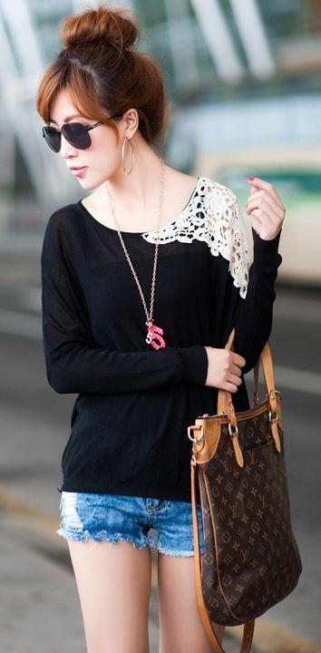 Lace shoulders