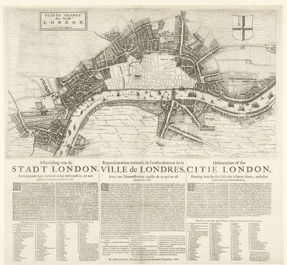 New item in my etsy shopMap of London after the great Fire of 1666 showing extent of the area burnt down. by PanchromaticaDesigns. Find it here http://ift.tt/2aiYKGT