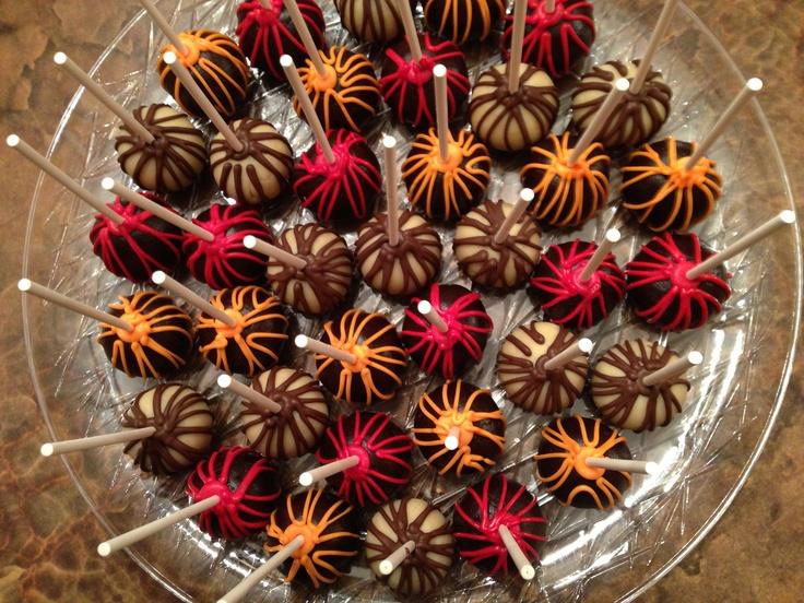 Gluten free cake pop tray chocolate and vanilla cake