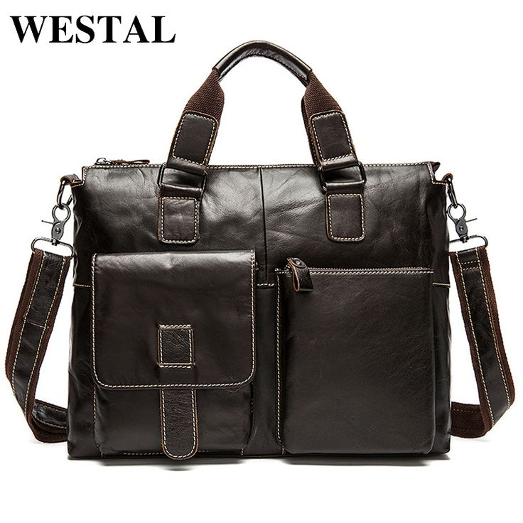 WESTAL Genuine Leather Bag Men Shoulder Crossbody Bags Men's Travel Messenger Bags Briefcases Leather Laptop Handbag Men Bag -  http://mixre.com/westal-genuine-leather-bag-men-shoulder-crossbody-bags-mens-travel-messenger-bags-briefcases-leather-laptop-handbag-men-bag/  #Handbags