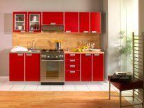 Mobiliario de cocina rojo