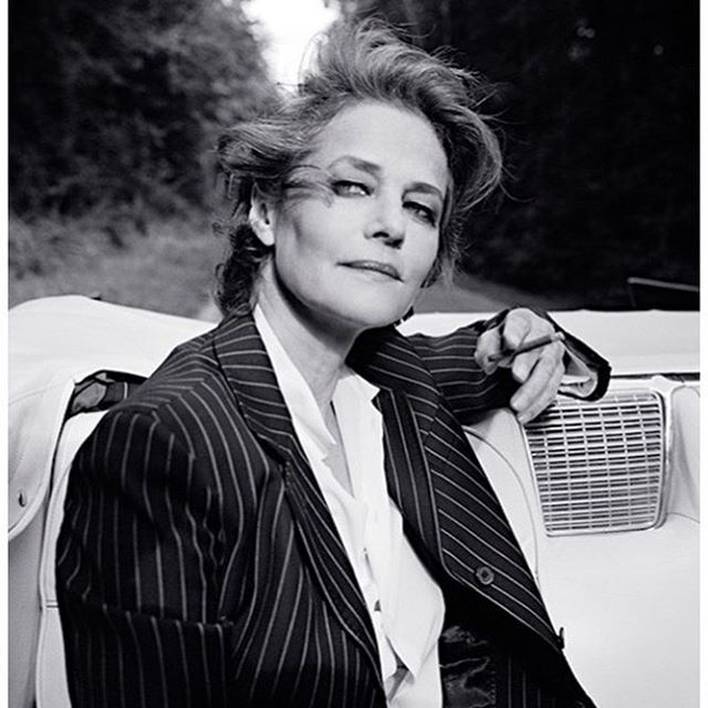 We love how Charlotte Rampling uses elements from the masculine style universe, and at the same time keeps it very sexy, elegant and feminine. © Patrick Swirc, 2014. #epilogueinspiration