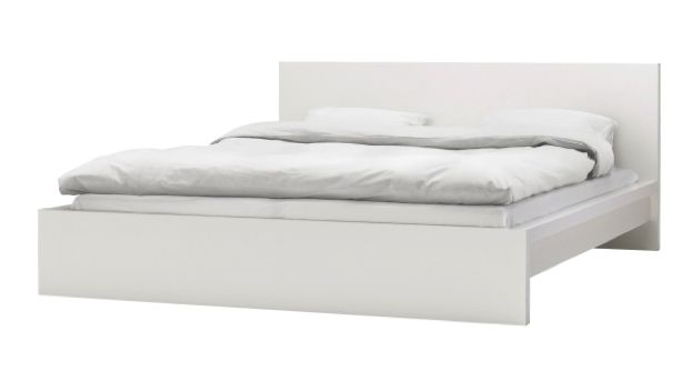 Create a simple and elegant bedroom style with our MALM white bed frame.