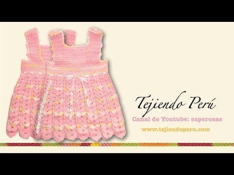 Vestido para bebe de 0 a 3 meses - Tejiendo Perú...