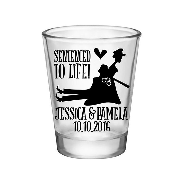 """100x Gay Police Shot Glasses Custom Cop Wedding Favors 