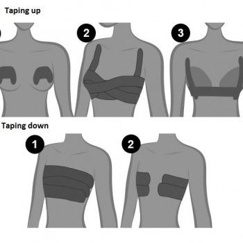 Ways to Tape Your Breasts For a Strapless Look