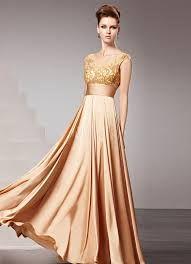 vestidos dorados de noche - Buscar con Google