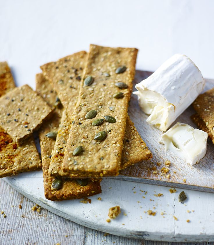These wholemeal seeded crackers are fantastic topped with cheese or dipped in hummus