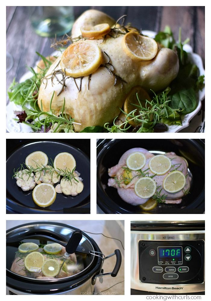 Slow Cooker Lemon Rosemary Chicken & @HamiltonBeach Set & Forget® 6 Qt. Programmable Slow Cooker with Timer | cookingwithcurls.com | #giveaway