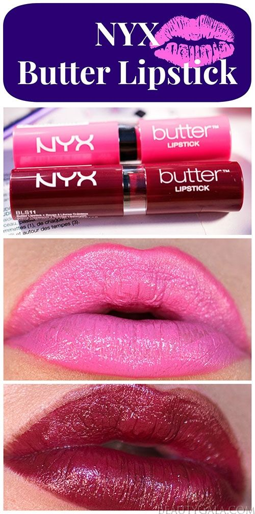 """NYX Butter Lipsticks in """"Taffy"""" and """"Licorice"""" @NYX Cosmetics"""