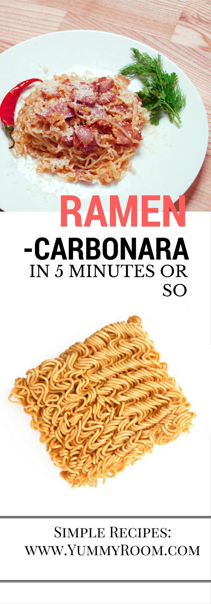Simple yet tasty Ramen Carbonara recipe by #Yummyroom