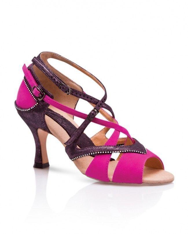 Capezio Crystal Lorelei Latin Dance Shoes Size 9.5 Ballroom Swarovski Crystals  #Capezio
