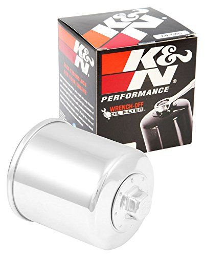 K&N KN-138C Powersports High Performance Oil Filter - K&N powersports oil filters contain a modern synthetic filter media, designed for ultimate flow with less pressure drop, yet engineered for outstanding filtration. K&N powersports 'spin-on' oil filters feature a heavy-duty metal can. Most of these have a 17 mm nut affixed onto the end that allows...