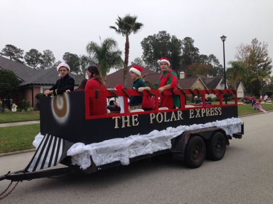 Polar express float | Christmas