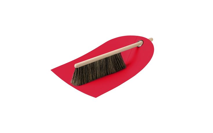 Dustpan and Broom in red   Functional and aesthetic design