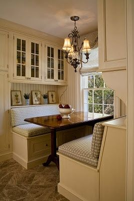 Rockin the breakfast nook. I love this idea. I want one of these!