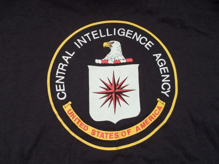 Central Intelligence Agency T-Shirt Adult M Medium United States Of America New